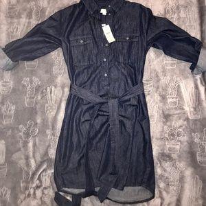 Nwt denim dress from the Loft